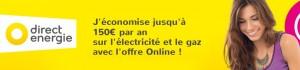 des économies d'électricité et de gaz grâce à direct énergie