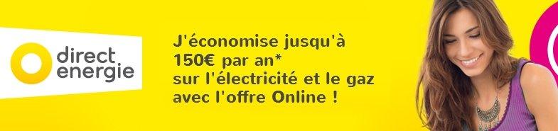 Parrainage Direct Energie: 20€ de réduction sur votre première facture