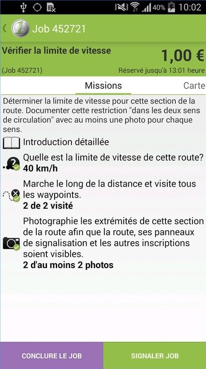 AppJobber : description d'une mission