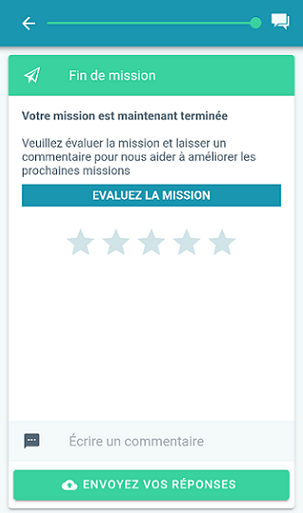 BeMyEye application fin de mission