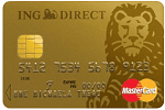 La carte Mastercard Gold d'ing direct