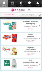 Application Shopmium : des promotions en direct de votre smartphone.