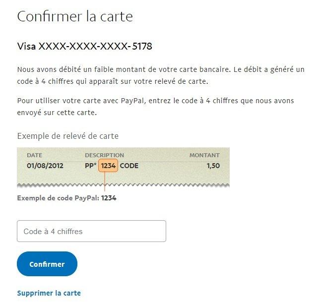 Ajouter sa carte bancaire sur Paypal