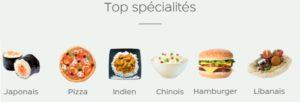 PagesJaunesResto: les spécialités