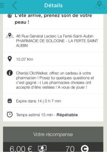 description des missions dans click and walk
