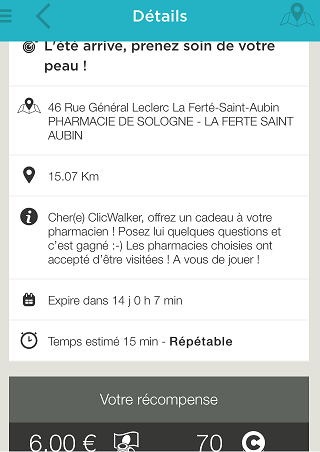 description des missions dans click and walk