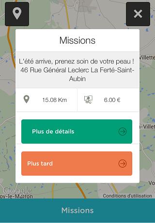 choix d'une mission à clic and walk