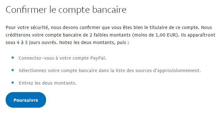 confirmer un compte bancaire sur paypal