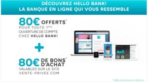 Promotion Vente privée pour les banques en ligne