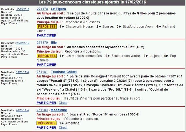Exemple de newsletter de jeux-concours