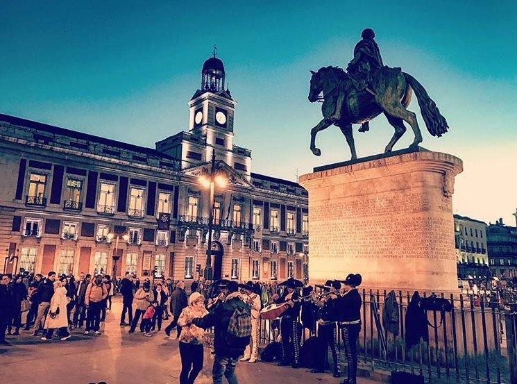 madrid : Puerta del sol