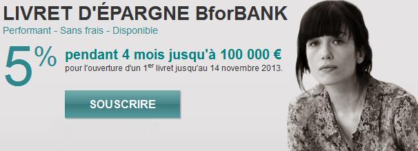 offre promotionnelle BForBank