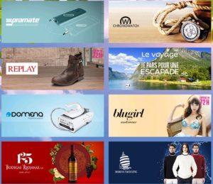 Exemple de ventes privées disponible sur le site vente-privee.fr